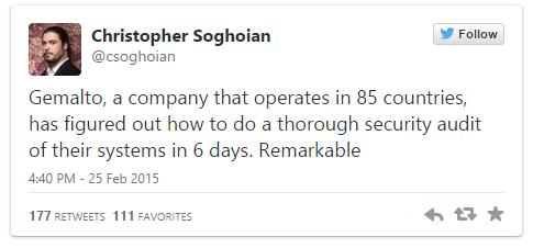 Christopher Soghoian est est un chercheur en sécurité informatique. Il milite en faveur de la protection de la vie privée sur les réseaux informatiques.