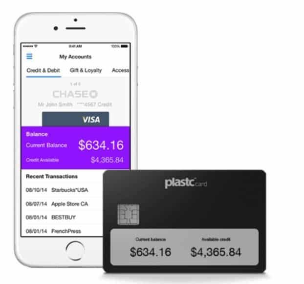carte de credit connectee plastc