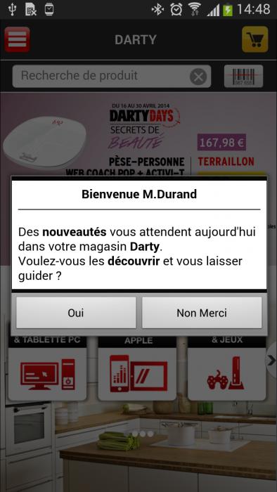 Bealder app Darty