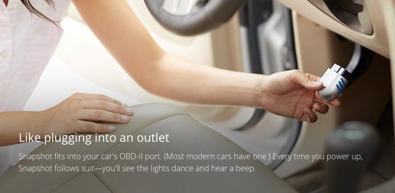 Progressive Snapshot vous propose d'équiper votre voiture d'un tracker capable d'enregistrer vos habitudes de conduites