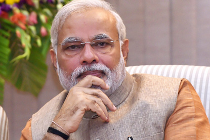 Narenda Modi, le Premier ministre de l'Inde fait du développement des villes connectées une priorité pour le pays