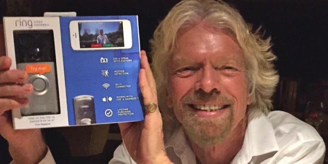 Richard branson 28 millions pour une sonnette intelligente - Sonnette video ring ...