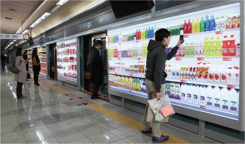 En Corée du Sud, Tesco propose des supermarchés 2.0 où on peut faire ses courses grâce à son téléphone