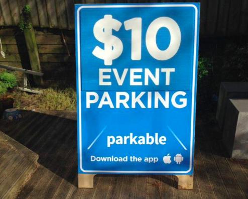 Parkable publicité