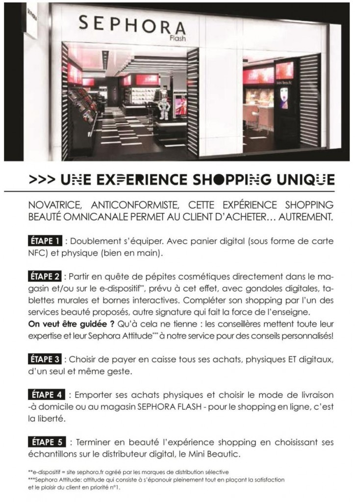 shopping Sephora flash connecté