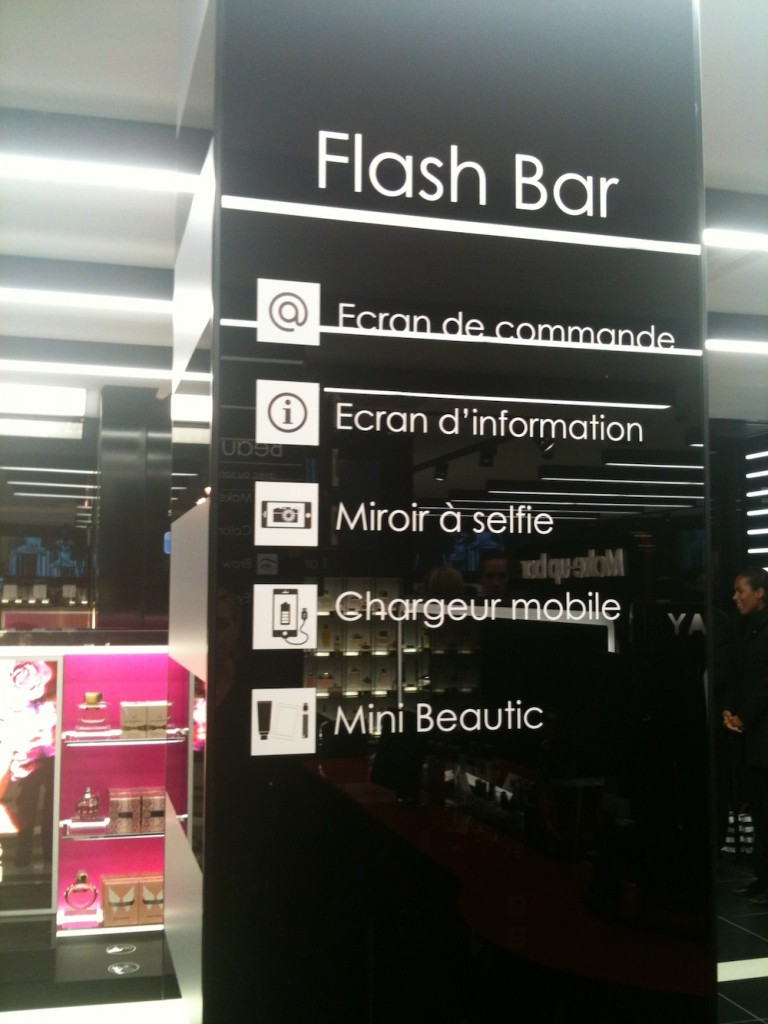 flash bar sephora connecté
