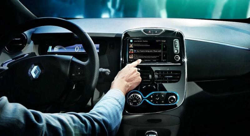 Exemple d'interface à bord d'une voiture intelligente