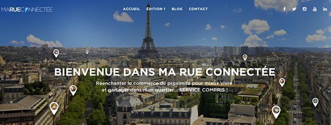 image de la page d'accueil du site marueconnectee.com avec une photo de paris