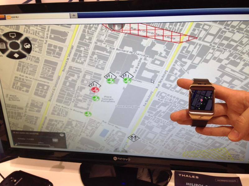 Smartwatch 6W4U en action avec logiciel