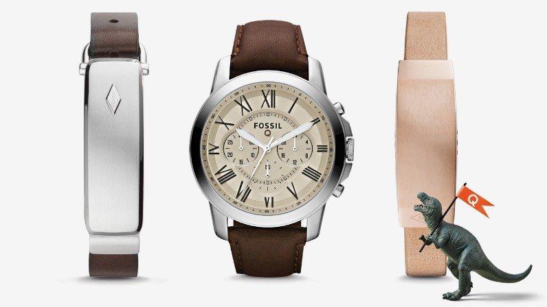 montre et bracelets de la gamme Q de Fossil