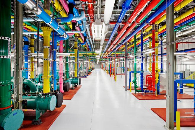 Le système de refroidissement du data center de Google à Douglas County, en Géorgie, Etats-Unis