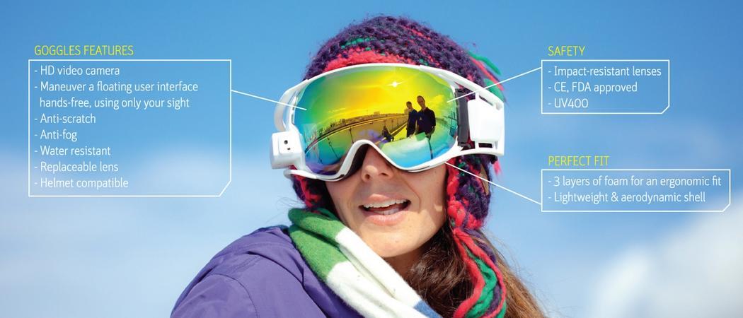 ski connecte rideon masque