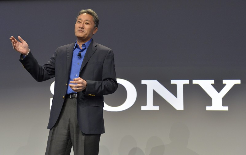 Kazuo Hirai, president and CEO of Sony Corporation, talks to members of the media during the Sony news conference at the International Consumer Electronics Show Monday, Jan. 6, 2014, in Las Vegas I photo AP Photo/Jack Dempsey