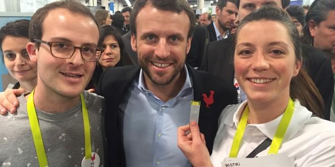 Wistiki au CES avec Macron