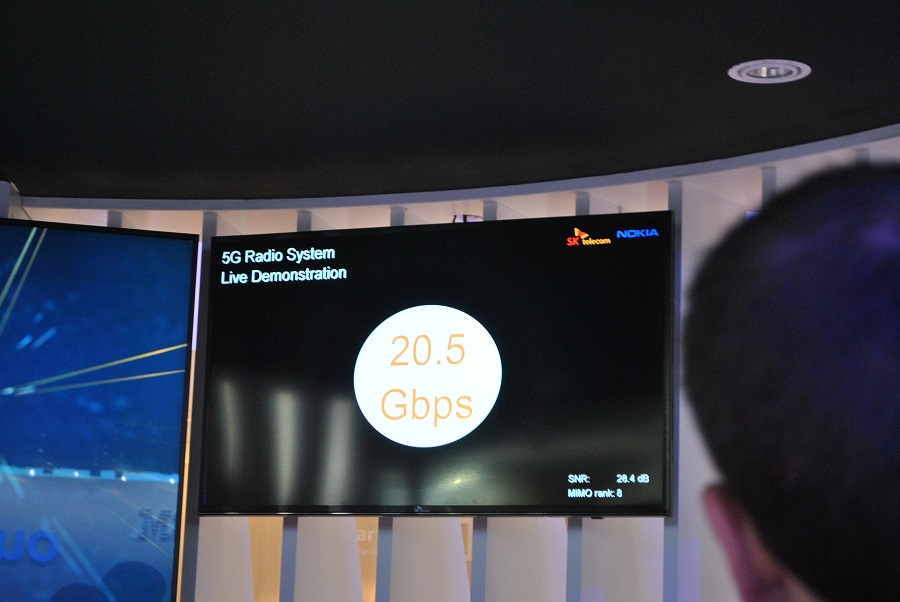 demonstrations 5G sk telecom