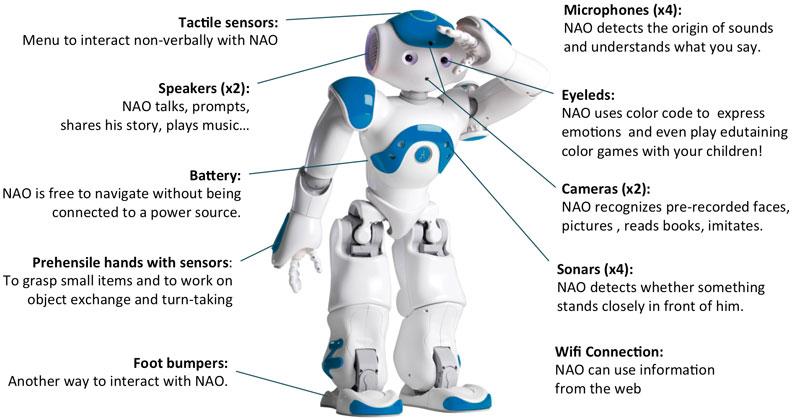 Tout savoir sur le robot nao d 39 aldebaran robotics for Caracteristique anglais