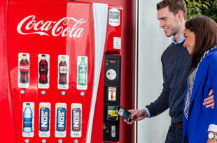coca-cola iot apple pay machines marque notifications