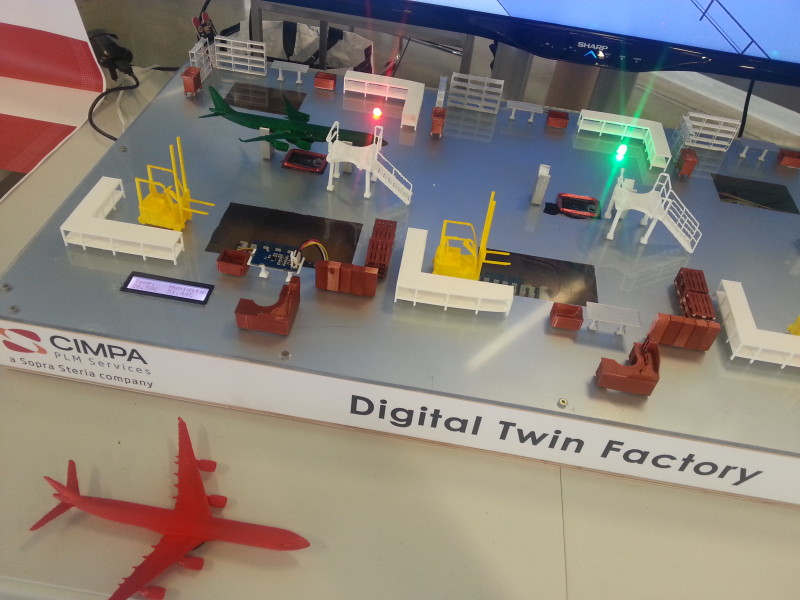 sopra steria La maquette physique de la Digital Twin Factory