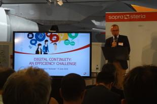 Ouverture de la conférence Sopra Steria par Laurent Giovacchin, le Directeur Général Adjoint