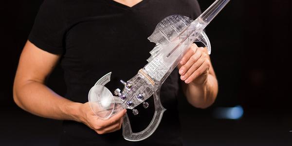 animation imprimante 3D violon