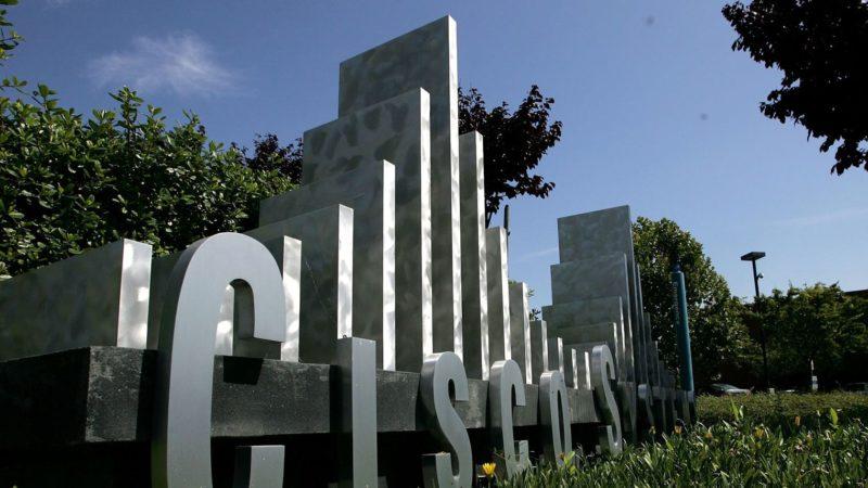 au-siege-du-groupe-technologique-americain-cisco-le-8-aout-2005-a-san-jose-en-californie_5484290