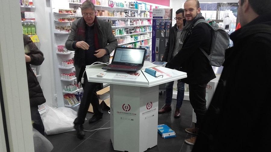 e-health pharmacie borne itinérante objets connectés santé