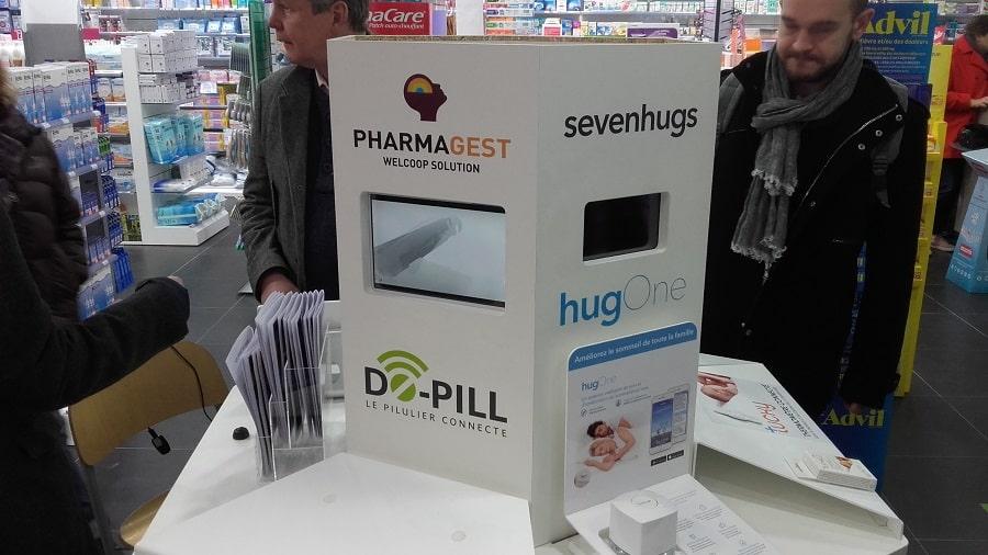 pharmacie borne itinérante objets connectés santé hugone