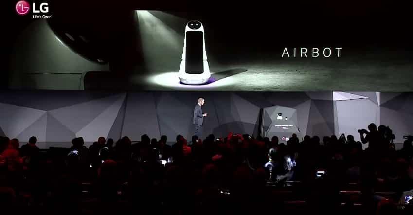 airbot hub robot lg ces 2017 rapport du ces