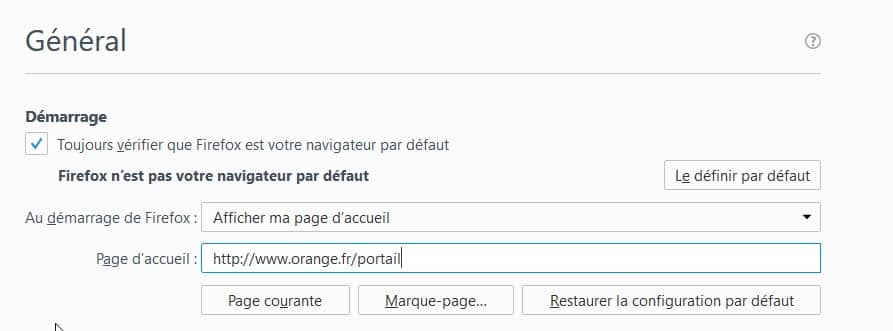 saisir l adresse http www orange fr portail dans l onglet demarrage