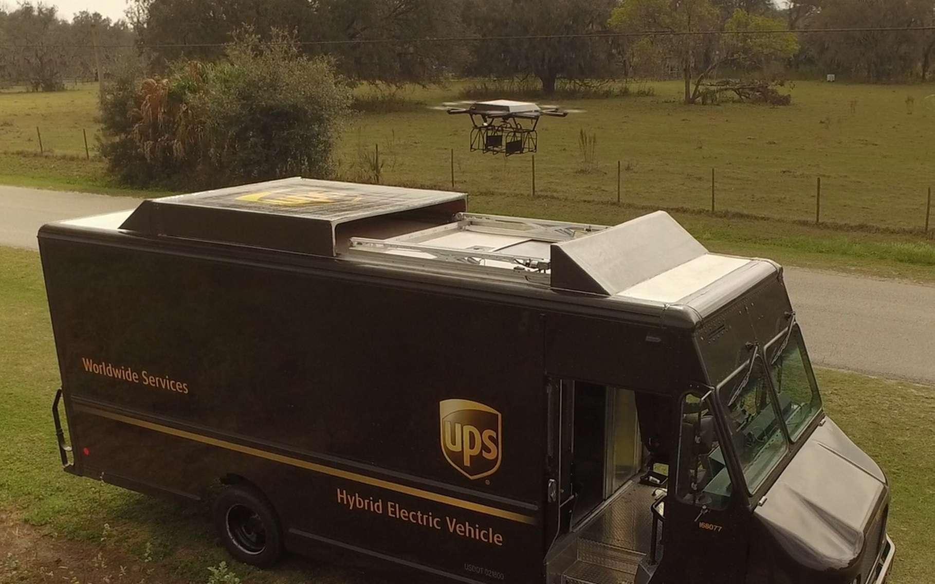 Bureaux Ups : Ups expérimente la livraison par drones lancés depuis un camion