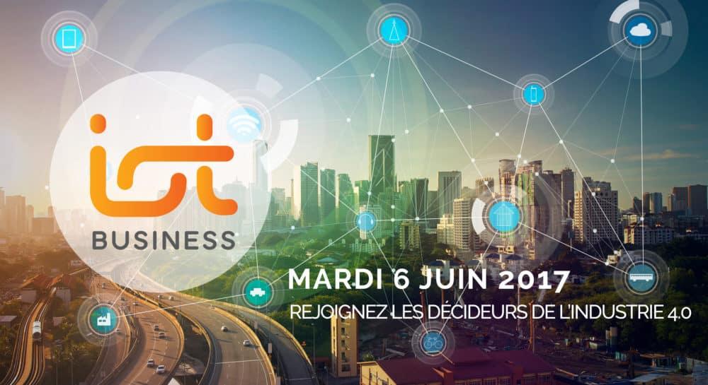 Le 6 juin 2017 aura lieu le salon IoT Business. Au programme, plus de 800 rendez-vous en One to one et des conférences dédiées à l'Industrie 4.0 et au M2M.