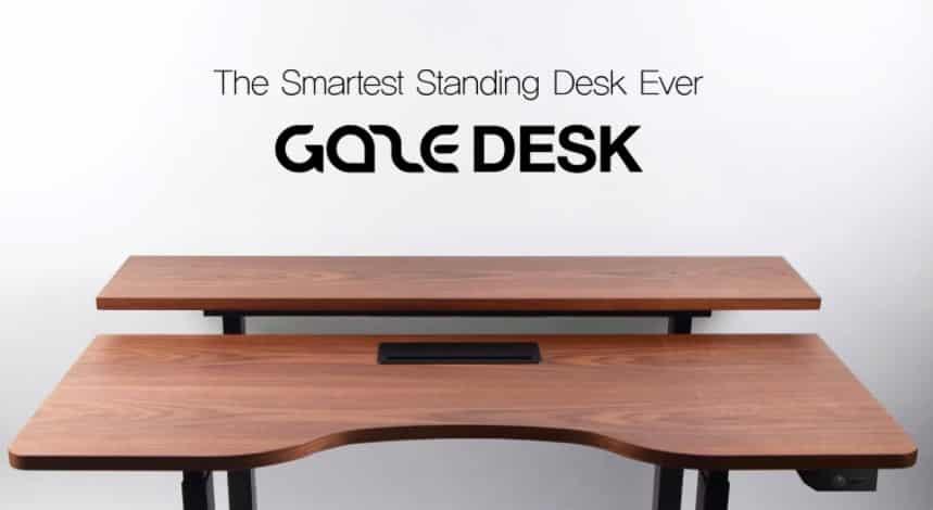 Gaze desk, santé au travail, bien-être, objet connecté entreprise, santé, bureau connecté