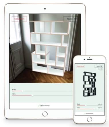Tylko application application de conception paramétrique en réalité augmentée Ikea