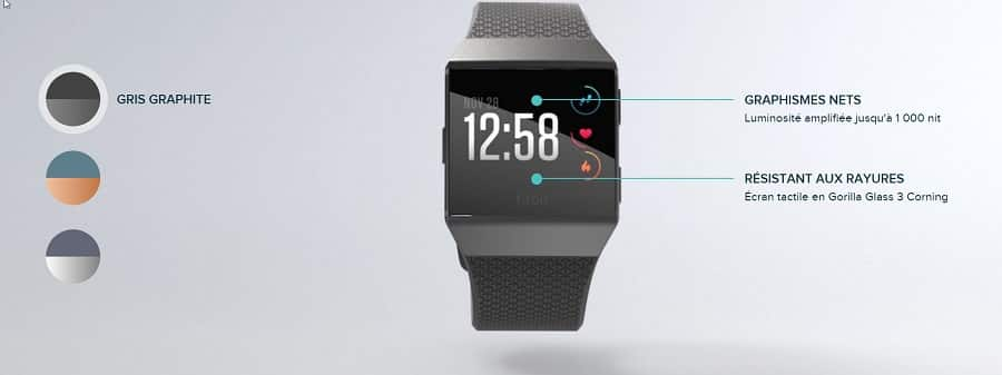 fitbit ionic couleurs