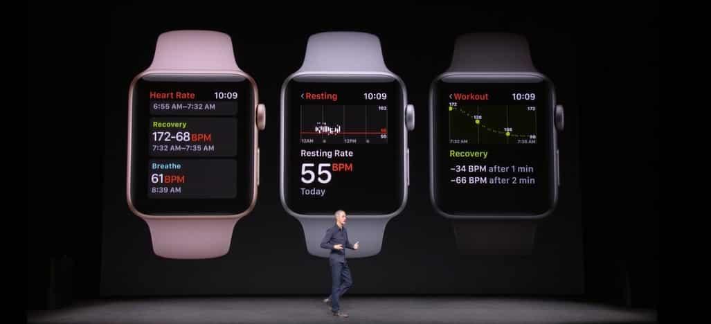 apple watch series 3 donnee coeur