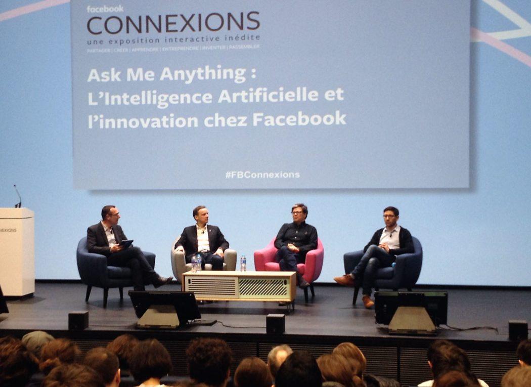 Facebook, conférence, intelligence artificielle, france