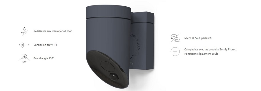 somfy annonce outdoor camera une cam ra dissuasive. Black Bedroom Furniture Sets. Home Design Ideas