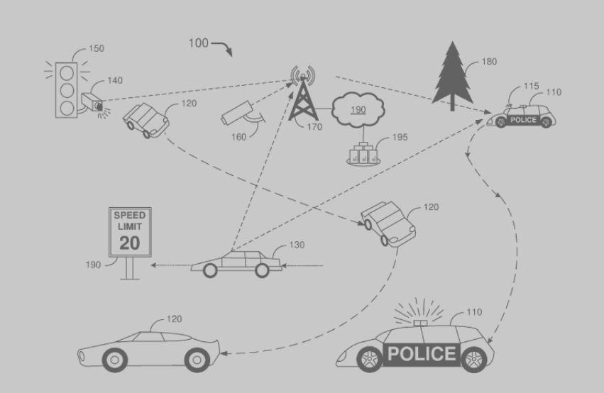voiture de police autonome brevet