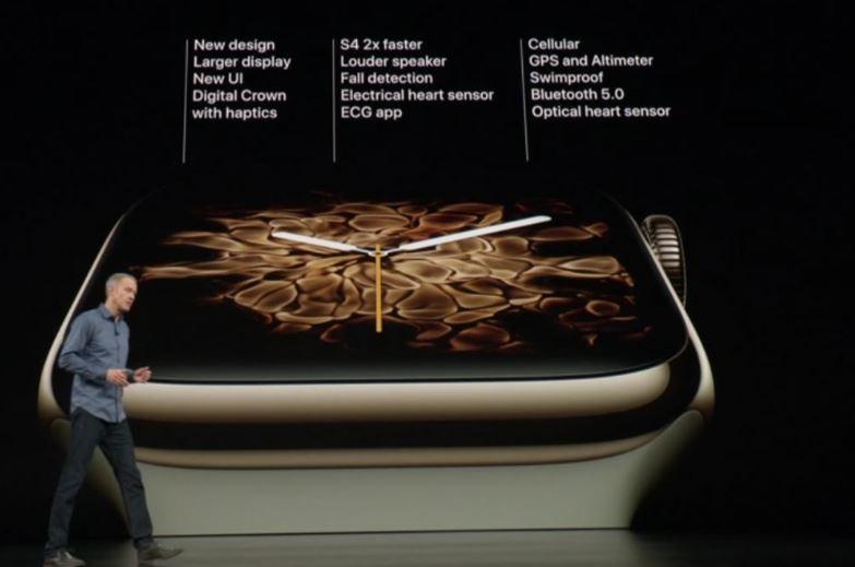 apple watch series 4 fiche technique