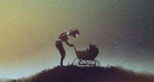 robot et poussette