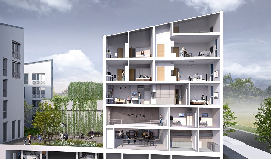 vue transversale future living berlin
