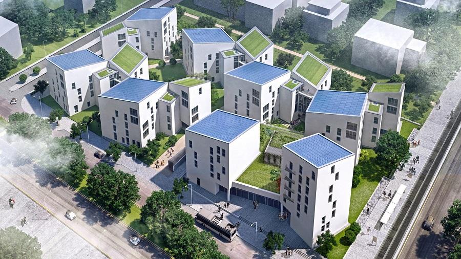 vue aérienne future living berlin