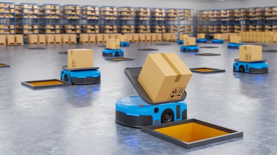 organisation robots entrepot